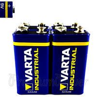 4 x Varta 9V batteries Alkaline Industrial 6LR61 E-Block 4022 LR22 PP3 MN1604