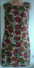 NEW LOOK MAYA DELUXE BEIGE MULTI FLORAL SHIFT TUNIC/DRESS SIZE 10 -NEW WITH TAG