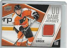 CLAUDE GIROUX 2011-12 UPPER DECK UD GAME JERSEY GAME USED JERSEY