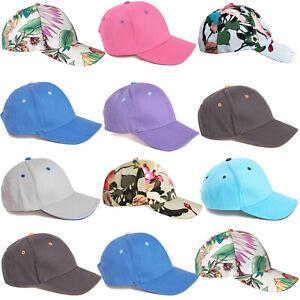 Childrens Summer Baseball Cap Hat Sun Protection Boys Girls Kids Plain Patterned