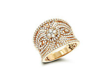 Damen Brillant Ring Brillanten Top Wesselton feines Weiß 18K Gelbgold Neu