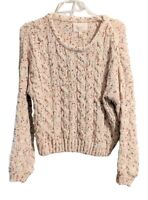 Jessica Simpson Womens Multi-Color Chenille Soft Chunky Knit Sweater Size L NWT