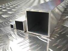 "Aluminium Square Box Tube Section 1/2"" - 3"" Many Sizes Grades 6082T6 6063T6 GS"