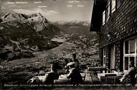 Garmisch Partenkirchen AK 1958 Wankhaus Terrasse Panorama gegen Zugspitzgruppe