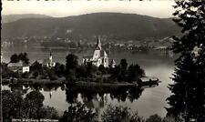 Maria Wörth am Wörthersee Postkarte 1957 gelaufen Panorama Insel Schloss See