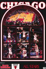 POSTER: NBA BASKETBALL: CHICAGO BULLS 1992 ALL-STARS - FREE SHIP #7463 RC1 F