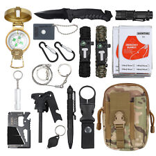 18X Emergency Survival Kit Sports Equipment Tactical Outdoor Hiking Camping Tool