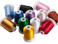 Simthread 40Wt 12 Colors Polyester Embroidery Machine Thread - 1,100 Yards Each