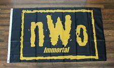 New World Order Immortal Banner Flag NWO Wrestling WCW WWE WWF Yellow Black