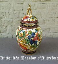 B2017425 - Vase en céramique H.Bequet - Quaregnon Belgique - 37 cm de hauteur