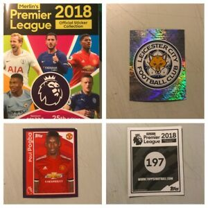 MERLIN/TOPPS 2018 Stickers. Complete your album, Various quantities available