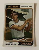 1974 Mark Belanger # 329 Topps Baseball Card Baltimore Orioles