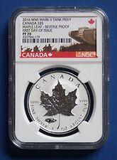 CANADA - 2016 Silver Maple Leaf with Mark V Tank Privy Mark (NGC PF70 FDOI)