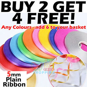Balloon Ribbon Curling Ribon Gift Wrapping Florists Crafting 50 METRES x 5mm UK