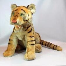 "Rare Steiff Mohair Stuffed Bengal Tiger 17"" Tall Made 1959-1961 w/ Button in Ear"