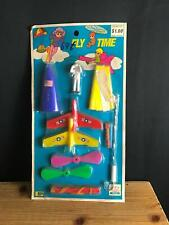"""Vintage HONG KONG """"FLY TIME"""" PARACHUTING USA ASTRONAUT Toy BY GIANT VALUE 70s"""