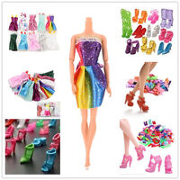 Handmade Party Clothes Dresses + Shoes boots for Barbie Dolls Mixed styles