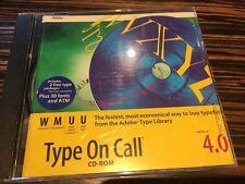 Adobe Type On Call  4.0 for Macintosh Windows Unix Sun