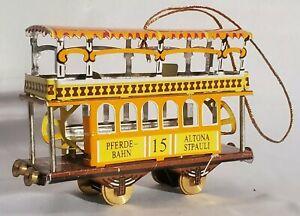 Tin Toy Ornament Trolley Pferde-Bahn 15 Altona-Stpauli Schylling Germany Vintage