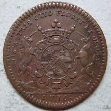 Bourgogne jeton cuivre 1716 Baudinet maire Dijon / Burgundy copper jetton mayor