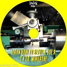 7X10 MINI LATHE MACHINE SKILLS/TECHNIQUES EASY TO FOLLOW TUTORIAL VIDEO DVD NEW