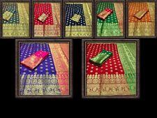 Soft Lichi Silk Women's Blouse / Sari Indian Special Sari Bollywood Sari CA 9