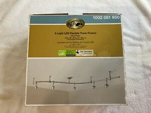 Hampton Bay 1002081950 8' Silver 5 Light Integrated LED Flex Track Lighting Kit