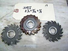3-PCS - C.L. & R,.CO.USA - STAG.STRAIGHT SD MILLING CUTTERS - 2 1/2 X 3/16 X 5/8