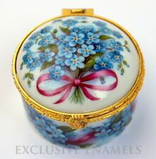 2019 Latest Design China Antique Trinket Pot With Lid Beautiful Floral Pink Roses Gilt Trim