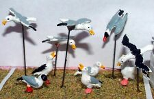 More details for 10 seagulls l28 unpainted o scale langley models kit 1/43 animals metal
