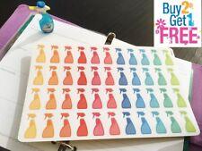 PP045 -- Small Spray Bottles Life Planner Stickers for Erin Condren (44 pcs)