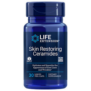 Life Extension Skin Restoring Ceramides for Radiant Healthy Skin (30 Capsules)