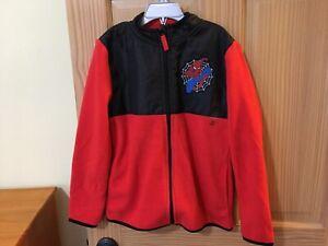 New Disney Store Spiderman Boy Fleece Jacket Marvel Red 7/8,9/10