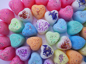 600 Mini Hearts Mixed Colours Bath Bombs Fizzy Special Offer
