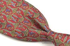 """SALVATORE FERRAGAMO Red Novelty 100% Silk Mens Luxury Tie - 3.50"""""""