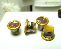 4 Carton Chocolate Ice Cream Dollhouse Miniature Food Sweet 1:12 Kitchen Re-ment