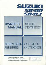 SUZUKI SA 310 / SA 413 Betriebsanleitung 1986 Manuale di Manutenzione SWIFT BA