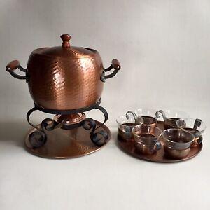 Feuerzangenbowle Kupfer Set von Stöckli Netstal sehr gute schwere Qualität