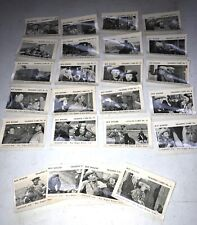 1955 ROY ROGERS BUBBLE GUM COMPLETE CARD SET OF 24 EXCELLENT RARE BLANK BACKS