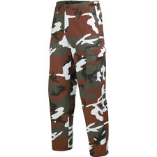 US Ranger Combats Work Cargo BDU Pants Mens Trousers Red Camo Camouflage S-3XL