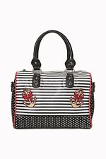 Anchor Rose Sailor Nautical Black White Stripe Polka Dot Handbag Banned Apparel