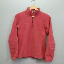 Columbia Womens Small 1/4 Zip Light Pink Fleece Pullover Sweater Winter Mock
