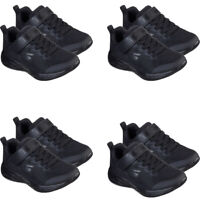 Skechers Kids Boys Trainers Infant Baby Strap School Casual Black Shoes