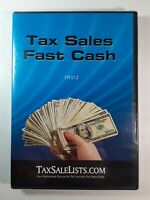 "Tax Sales Fast Cash ~ (DVD-2) Video Movie Lists Liens Brand New  ""FREE SHIPPING"""
