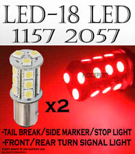 x2 pcs LED 18W SMDs [RED] Replace for Car Sylvania Brake & Tail Light Bulbs J36