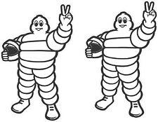 "#4272 (2) 2.0"" Michelin Man Peace Sponsor MotoGp Decal Sticker Laminated Vintage"
