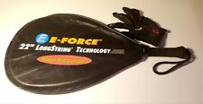 "E Force Launch Pad Racquetball Racquet 22"" Longstring w/ Cover 3 5/8 Grip New"