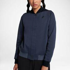 Women's Nike Tech Fleece Destroyer Zip Jacket Obsidian Black Heather 884427 451
