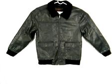 Whispering Smith Heritage Men's Jacket Leather Fur Lined Bomber Flight Coat Sz L
