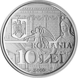 ROMANIA 10 Lei 2016 BNR Romanian ACADEMY proof SILVER coin ACADEMIA ROMANA 200ex